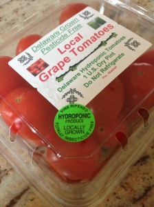 Local hydroponically grown tomatoes.