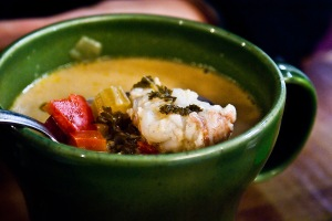 Lobster soup from Saegreifinn