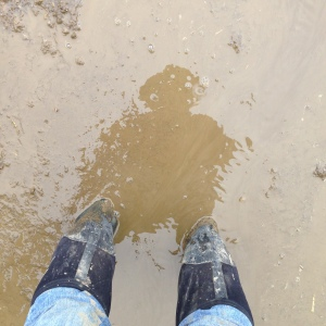That's me ankle-deep in mud